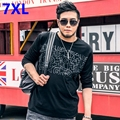 Large size Mens Long Sleeve T-shirt printing loose add fertilizer increased casual big size long sleeved T-shirt 7XL Big yards