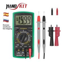 Handskit мультиметр AC DC Цифровой мультиметр профессиональный тестер Вольтметр цифровой ЖК-дисплей 2000 отсчетов метр тестер