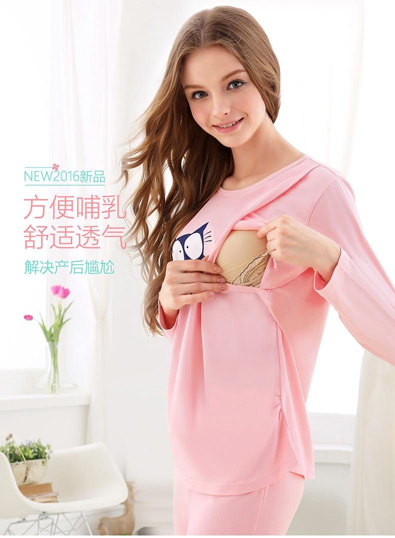 cotton confined suits summer cotton maternity sleepwear maternal breastfeeding leisurewear postpartum nursing suit