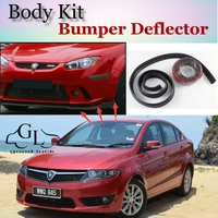 Bumper Lip Deflector Lips For Proton Preve O3 21A Front Spoiler Skirt For TopGear Friends to Car View Tuning / Body Kit / Strip