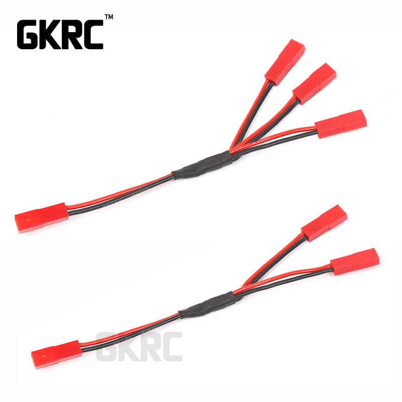 Gkrc üç bir kablosu Esc güç kaynağı harici kabloları Jst 1/10 Rc paletli araba Defender Traxxas Trx4 taktik ünitesi Bronco