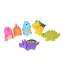 ZTOYL 6 stks/set Leuke Squishy Dinosaurus Rubber Squeeze Healing Fun Kids Kawaii Speelgoed Stress Reliever Decoratie(China)