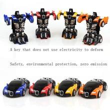 Diecast Model Car Toy Children Birthday Gift hot wheelssly crash into inertia transformer 4 deformation toys