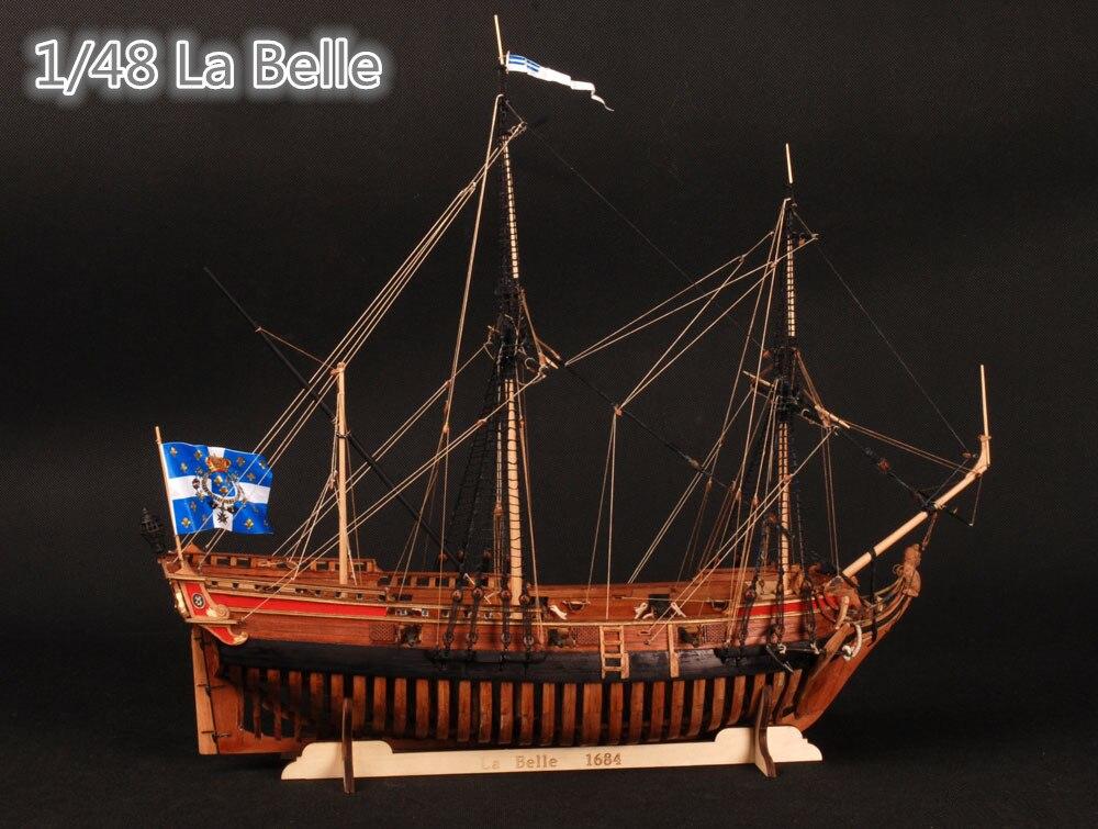 Wooden Ship <font><b>Models</b></font> Kits Boats Wooden 3d Laser Cut Scale 1/48 La Belle 1682 Full <font><b>Ribs</b></font> <font><b>Model</b></font>