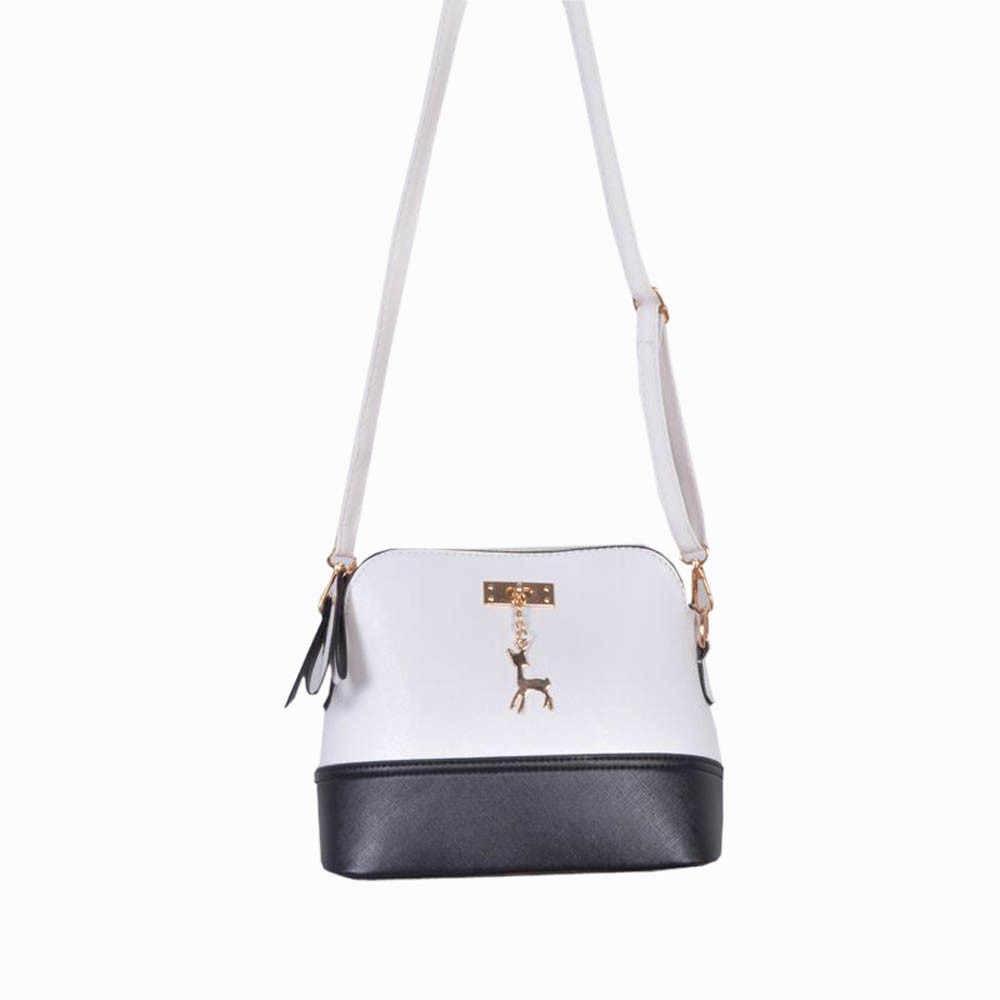 Женская сумка с амулетом в виде оленя, винтажная кожаная сумочка-мессенджер, Повседневная Лоскутная кожаная роскошная сумка на одно плечо, сумки Bolsas #23
