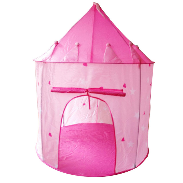 Lovely Girls Pink Princess Castle Cute Playhouse Kids Teepee Tents Indoor  And Outdoor Kids Play Baby