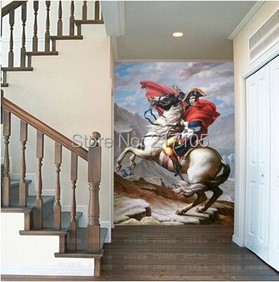 Free shipping napoleon large murals Porch corridor European TV wall paper wallpaper  free shipping european 3d relief murals aisle porch corridor classical style wallpaper rich tree rose vase mural