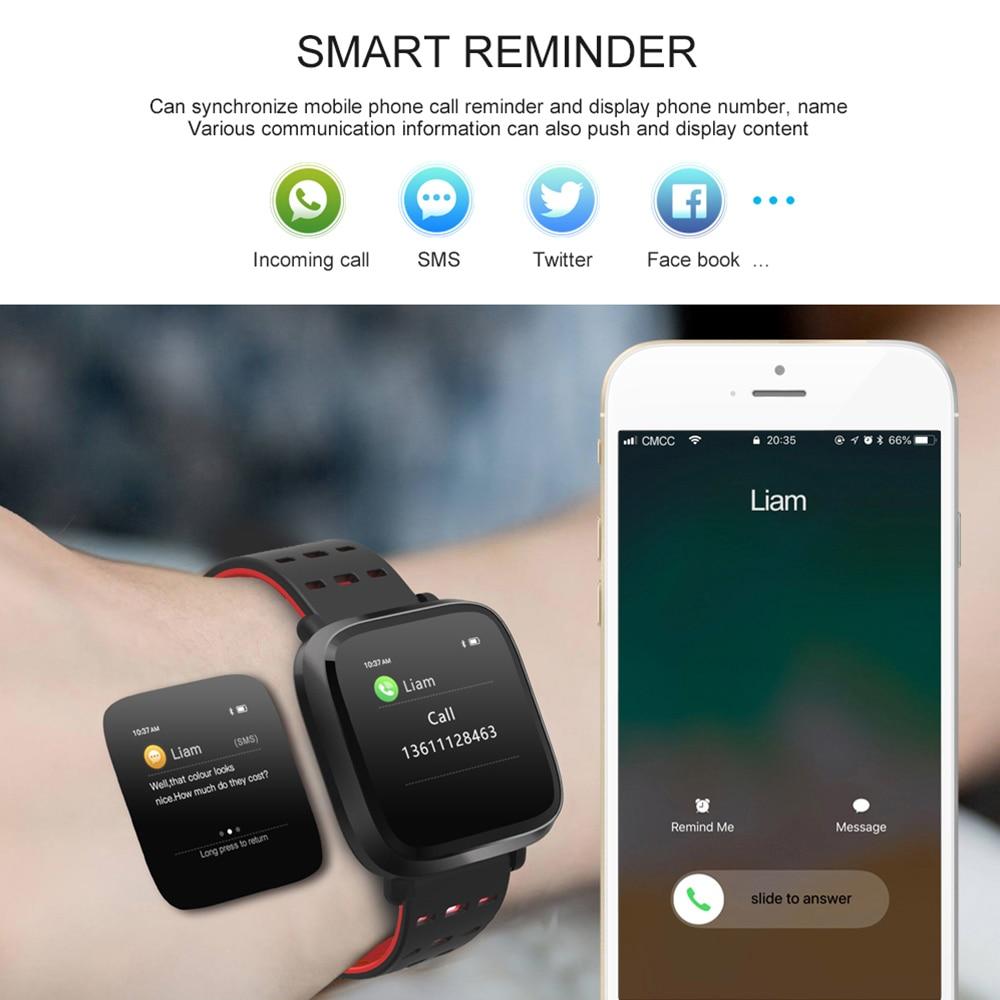 Uhren Ogeda Ip68 Wasserdichte Intelligente Uhr Fitness Tracker Armband Blut Sauerstoff Herz Rate Monitor Blutdruck Sport Smart Bracele Digitale Uhren