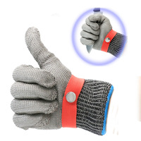 LB102 316L Stainless Steel Wire Mesh Cut Proof Resistant Chain Mail Protective Glove For Working Safety