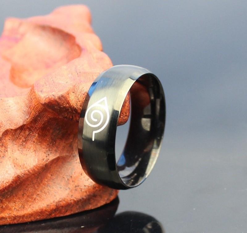 Naruto Black Titanium Ring