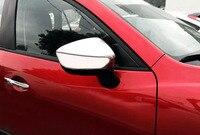 For 2017 2018 Mazda CX5 Cx 5 Chrome Rear View Side Mirror Cover Trim Cap Overlay 2pcs