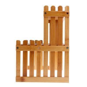 Image 3 - Pianta Mensola Del Fiore di Visualizzazione Del Basamento di Legno di Bambù Rack di Stoccaggio Giardino Organizzatore