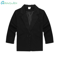 Grandwish czarny blazers kurtki dla chłopców dzieci formalne suknia ślubna garnitur dzieci solidną jakość prom garnitury dla chłopców 4 t-16 t, SC992