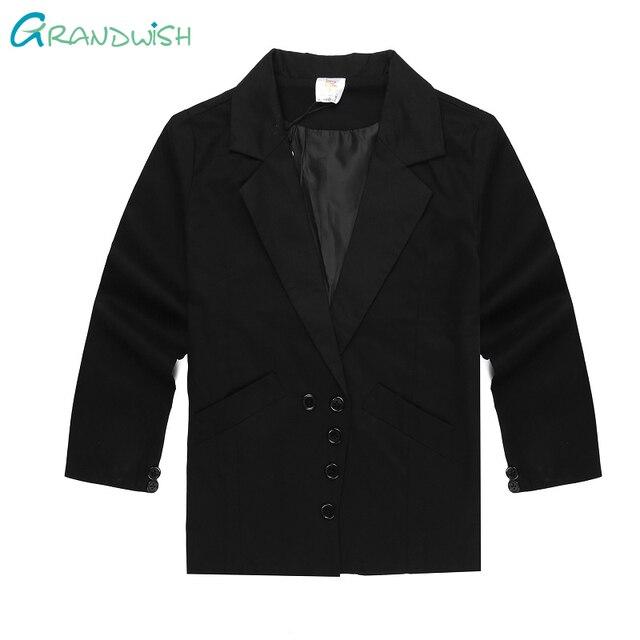 49061191b2 Grandwish jaqueta para meninos crianças formais vestido de noiva terno  preto blazers crianças sólida qualidade prom