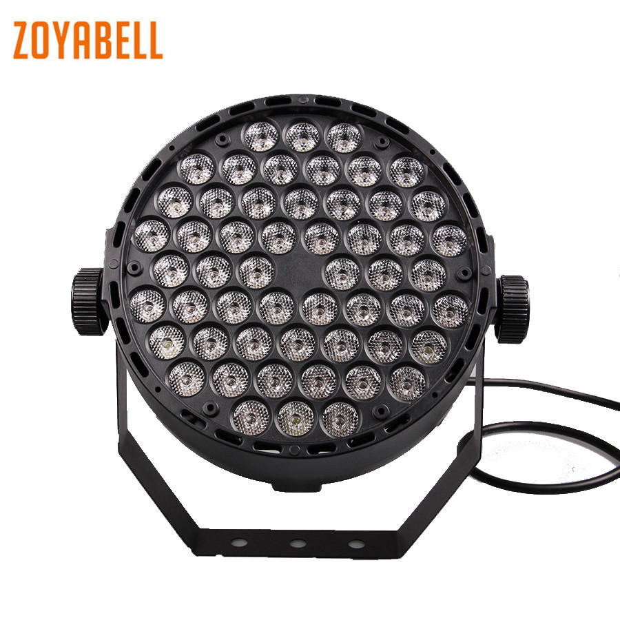 zoyabell Led Par Light DMX 512 RGB Disco Stage Party DJ 54 Leds Laser Spotlights Club Lamp Projector Home Party Lighting 2pcs par 24w rgb led stage light disco dj bar christmas wedding party laser projector lighting dmx 512 strobe lo