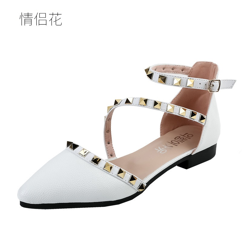 2018 fashion rivet casual white flat shoes women flats spring sutumn girl designer shoes woman shoes ladies espadrilles loafers summer sneakers fashion shoes woman flats casual mesh flat shoes designer female loafers shoes for women zapatillas mujer