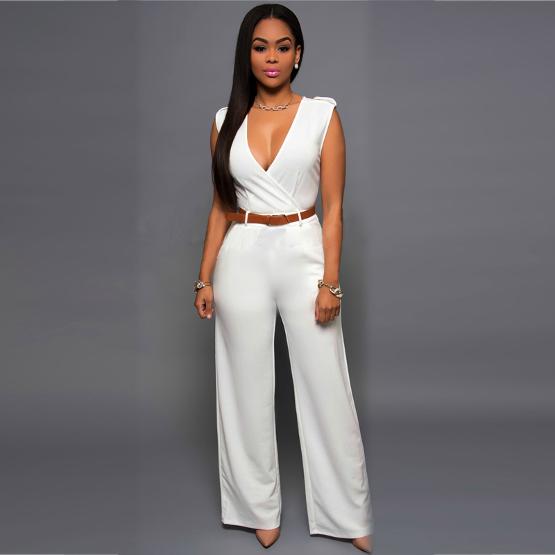 Blue all white bodycon jumpsuit pants for women lulu