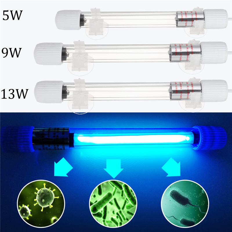 5W 9W 13W UV Lampada Luce Laghetto <font><b>Acquario</b></font> Sterilizzatore Sommergibile Waterproof Underwater <font><b>LED</b></font> Light Clean Water
