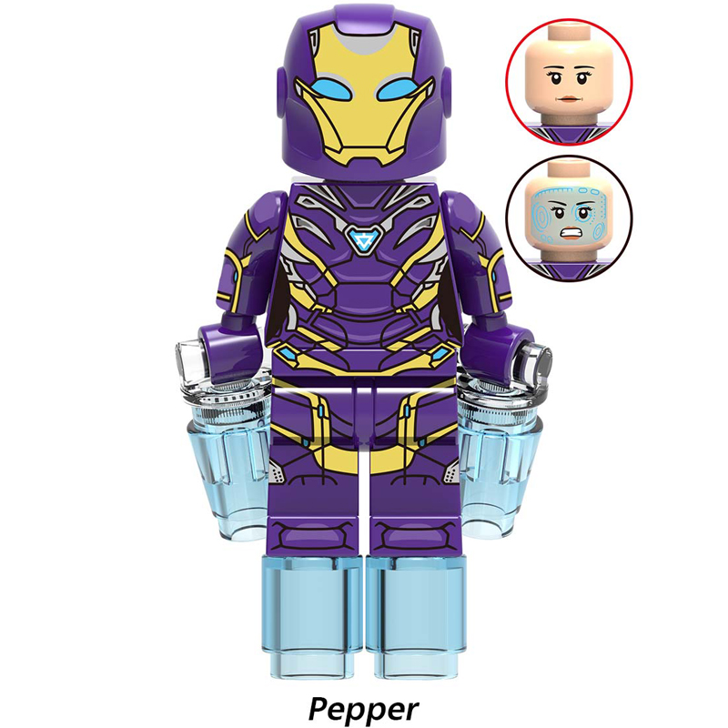 Image 2 - Marvel Avengers Endgame Iron Man Shuri Scarlet Witch Wasp Pepper Captain America Figures Toys Compatible With Lego X0263-in Blocks from Toys & Hobbies