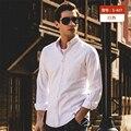 2017 spring new fashion men's long sleeve shirt brand clothing soft cotton quality men's shirt   Casual soft Oxford men's shirt