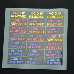 Image 4 - VOID إذا إزالة الأمن الهولوغرام فقط لمرة واحدة استخدام الفضة اللون 20 مللي متر x 50 مللي متر الثلاثية الأبعاد ملصقا للتغليف شحن مجاني