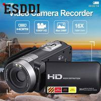 Esddi New Sport 3.0'' LCD 1080P HD Support Night Vision Infrared Digital Camera Video DV DVR US Plug Outdoor Travelling Cam Gift