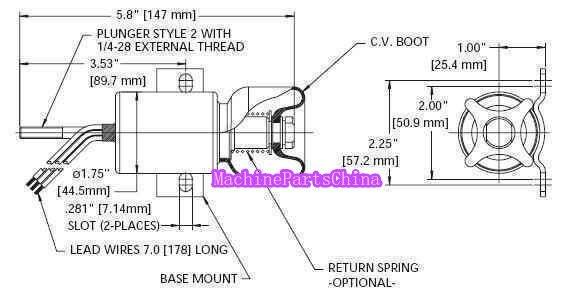 diesel shut down solenoid 1700-3513 1757es-12e2ulb1s1 free shipping