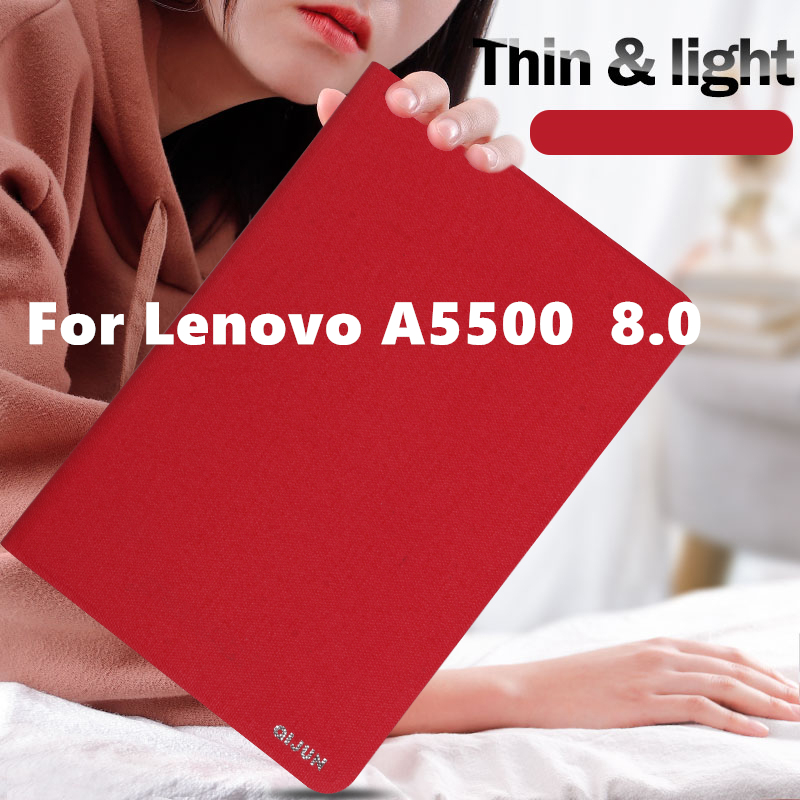 Case Cover For Lenovo A5500 Protective Protector Smart covers Leather Tablet Idea Tab A8-50 a5500 A5500-H Cases PU Sleeve 8.0