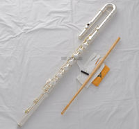 Professional New Silver Bass Flute C Key Off Set G key Italian Pad With Case