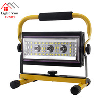 2018 new USB charging treasure dimmable work light flood light outdoor camping light portable portable lamp stall lamp