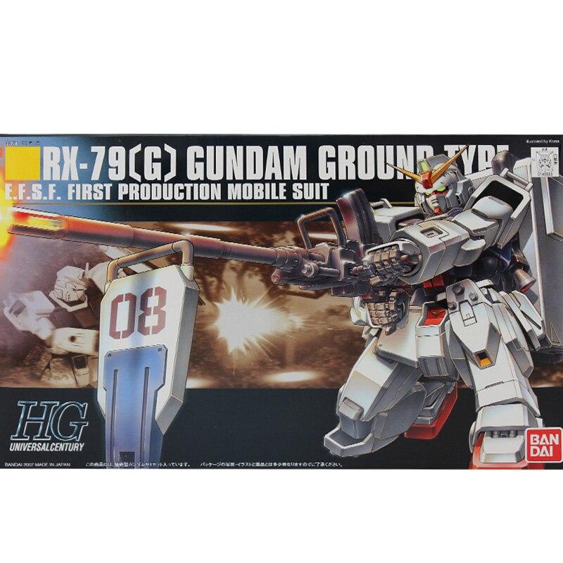 1PCS Bandai HGUC 079 1/144 RX-79(G) Gundam Ground Type Mobile Suit Assembly Model Kits lbx toys Anime action figure TOYS Gunpla hguc 155 rx 79[g] ez 8 1 144 up to even airborne backpack
