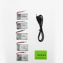 3.7V X5C 650mAh lipo Battery 5pcs and charger Syma X5C X5SC X5SW X5C-1 V931 H5C CX-30 CX-30W rc Quadcopter drone Parts wholesale