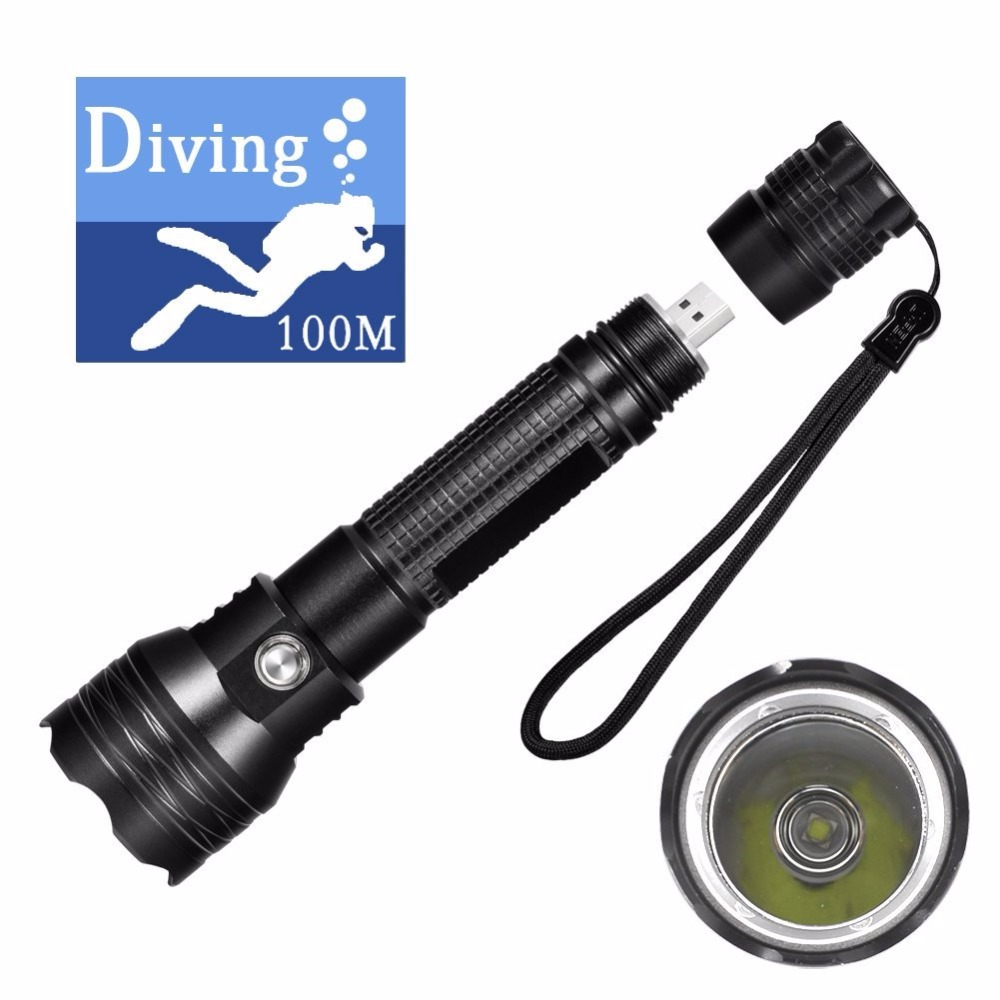 DaskFire DF4 Diving Flashlight Underwater 100M Cree Xml L2 Led USB Diving Torch Magnetic Button Anti-corrosion Built-in Battery sitemap 24 xml