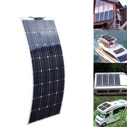 XINPUGUANG 100W panel słoneczny 200w fotowoltaiczny elastyczny moduł słoneczny 18V Sonnenkollektor 12v 24 v ładowarka samochodowa Solpanel w Ogniwa słoneczne od Elektronika użytkowa na