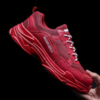 Fashion Breathable Men Running Shoes Casual Brand Sneakers Height Increasing Jogging Sports triple s Zapatillas hombre