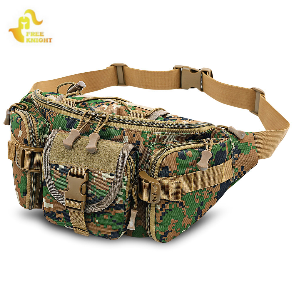 Free Knight 3-5L Waterproof Tactical Waist Bag Molle Bag Unisex Fanny Pack Fishing Climbing Hunting Outdoor Sports Belt Bag цена