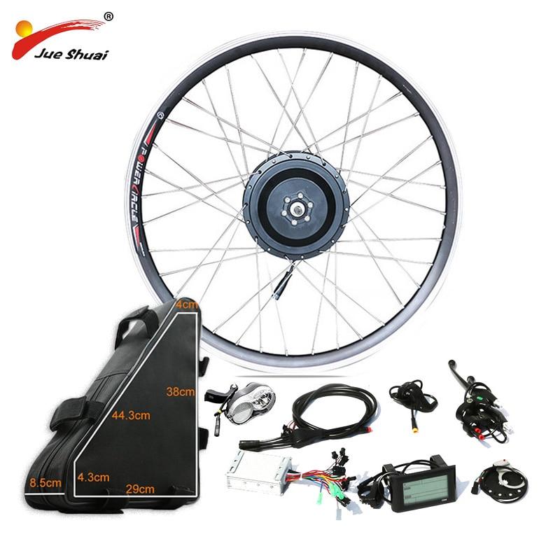 48 v 500 w Puissant Vélo Électrique Kit de Conversion de Moteur de Moyeu de Roue avec 48V20AH Batterie Haute Capacité pour 26 700C BRICOLAGE Kit Ebike