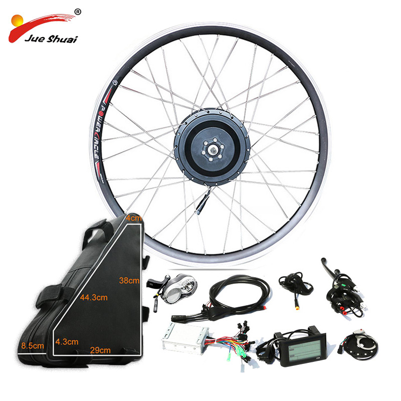 48V 500W Powerful Electric Bike Conversion Kit Hub Motor Wheel with 48V20AH High Capacity Battery for