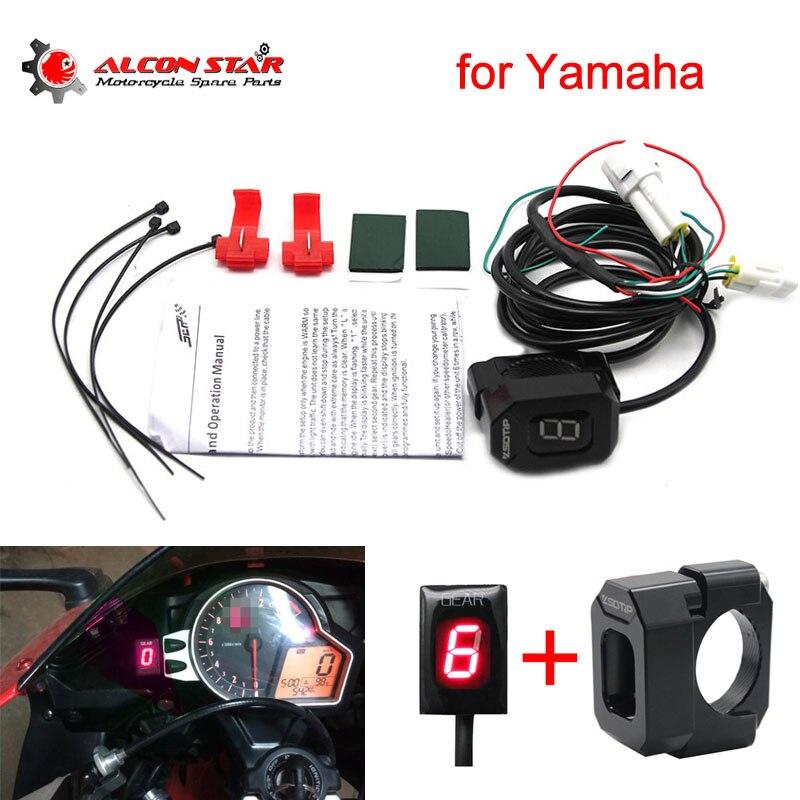 Alconstar- 1-6 Speed Motorcycle ECU Mount Gear Indicator Gear Meter Display EFI Engine For Yamaha XJR400 FZ16 XJR1300 FZ6 MT03