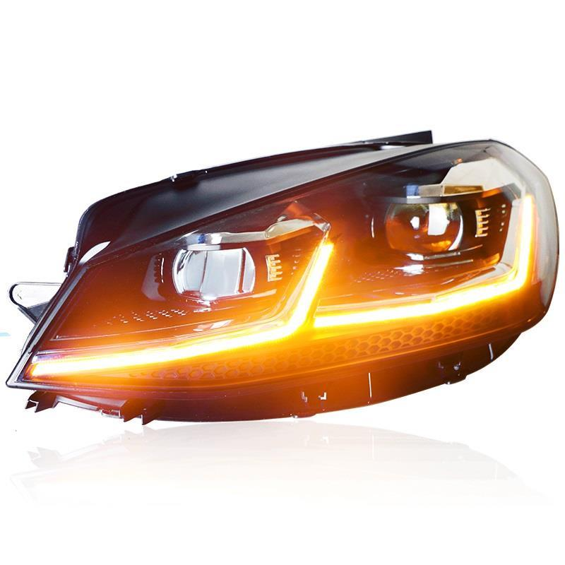 Neblineros параметры люксов освещения авто удара днем бег укладки Automovil светодио дный фары для автомобиля сзади огни сборки Volkswagen Гольф 7