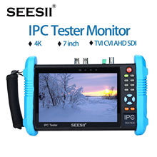 "SEESII IPC-9800ADHSPLUS "" ips сенсорный экран H.265 ip-камера тест er 4K 1080P CCTV AHD SDI CVBS Аналоговое видео тест HDMl PTZ контроль"