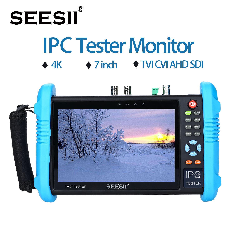 Seesii ipc-9800adhsplus 7 IPS Сенсорный экран H.265 IP Камера Тесты ER 4 К 1080 P CCTV AHD SDI CVBS аналоговый видео Тесты HDML PTZ Управление
