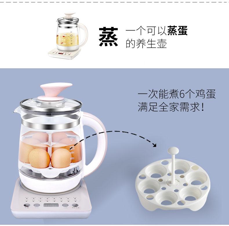 Hervidor Agua Electrico Health Pot Automatic Thickening Glass Electric Kettle Boiling Flower Tea Pot Boiling Pot Black Tea Tea 7