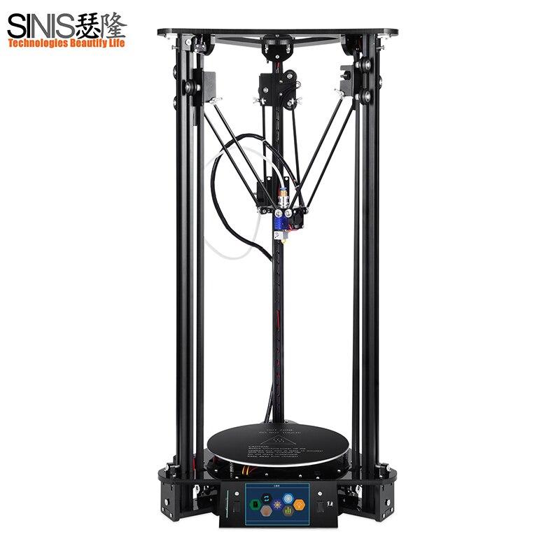 Синийс 3D принтер impresora 3d новые обновления для imprimante 3d принтер i3 комплект Высокоточный Ultrabase на платформе с лазерной