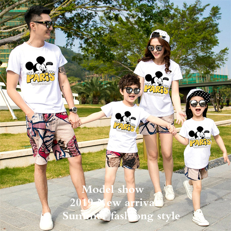 2019 Dropship Matching Household Trend Summer season Mom And Daughter Garments Tops Mickey Household Matching Outfit Mommy And Me Outfits Matching Household Outfits, Low cost Matching Household Outfits, 2019...