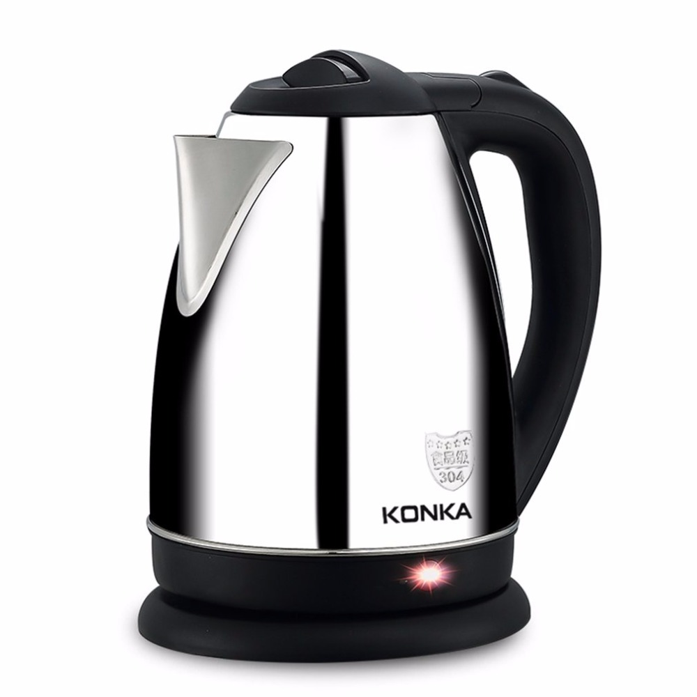 KONKA 1.8L Electric Water Kettle 304 Stainless Steel Electric Kettle With Safety Auto-off Function Quick Electric Boiling Pot electric kettle boiling pot 304 stainless steel home insulation 1 5l safety auto off function