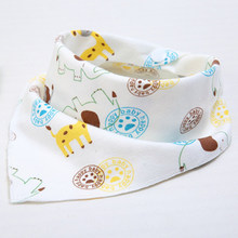 1Pcs Double Layers Cotton Baby bibs burp cloth Baberos Children Scarf baby bandana bib Babies Bebes baby scarf babador(China)