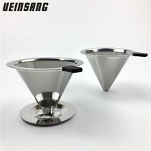 Многоразовый фильтр для кофе, держатель из нержавеющей стали, металлическая сетка, корзина для воронки, фильтры для кофе, капельница v60, капельный фильтр для кофе, чашка