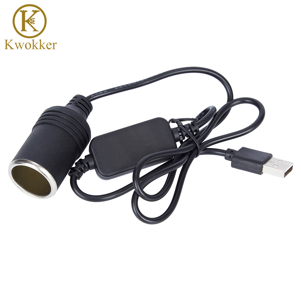 REARMASTER 12V//24V 2in1 Cigar Lighter DC Power Cable with Switch Button Long Female Socket Power Extension Cable