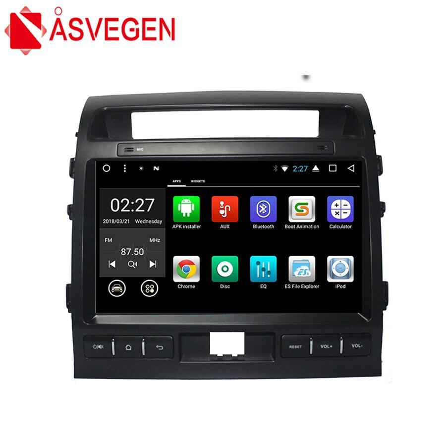 Asvegen 10,2 дюймов Android 6,0 4 ядра автомобиля Радио Bluetooth gps навигации мультимедийный плеер для Toyota LAND CRUISER 2006